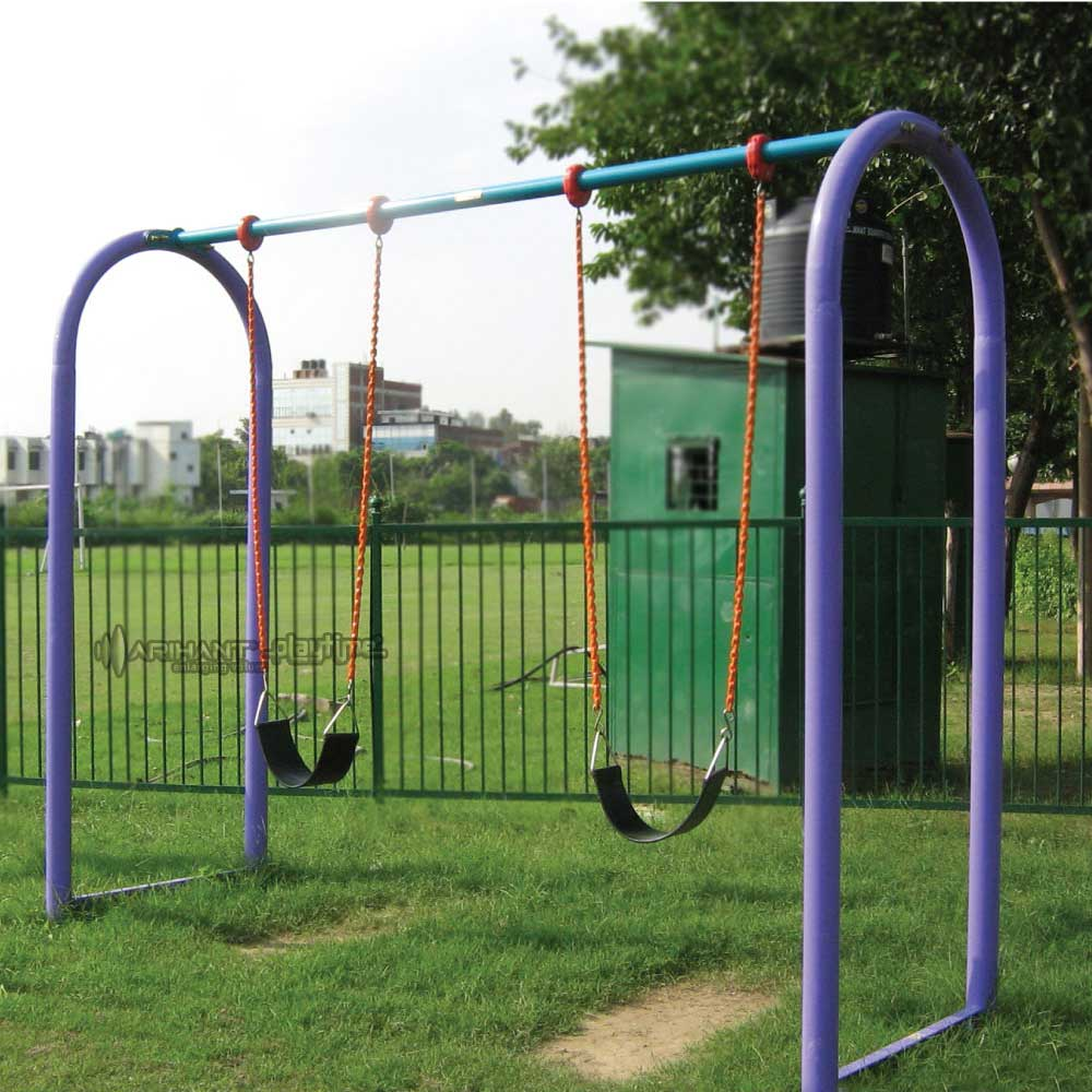 Double seater arc swing